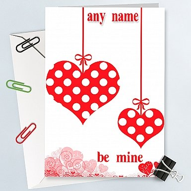 Be Mine Personalised card