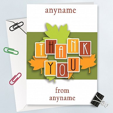 Special Thank You-Personalised Card