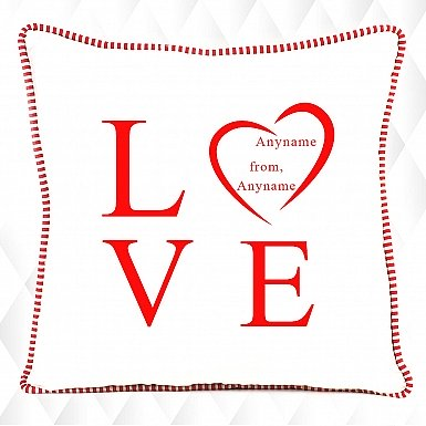 Typographical Love-Personalised Cushion