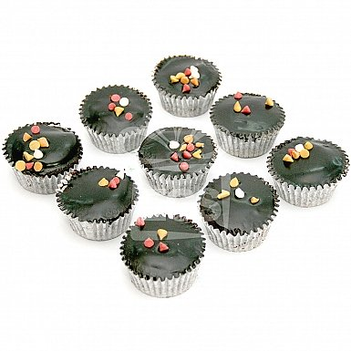 12 Chocolate Cup Cakes Small - Pie in The Sky