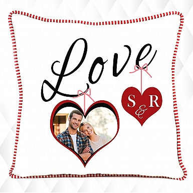 Couple's Initial-Personalised Photo Cushion