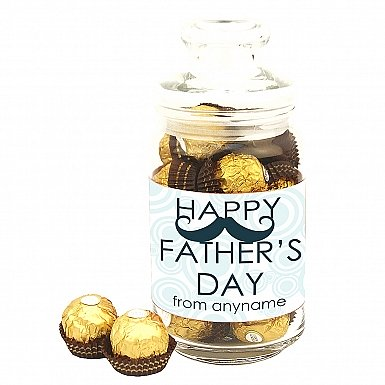 Father's Day Moustache-Personalsied Jar
