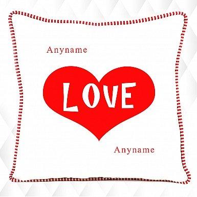 Heart Love - Personalised Cushion