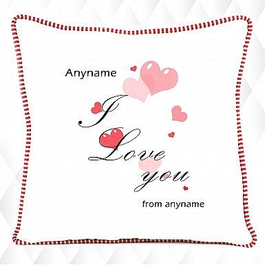 I love you -Personalised cushion