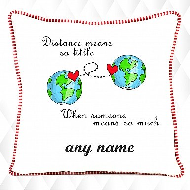 Long Distance Relations-Personalised Cushion