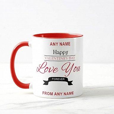 Love You Forever-Personalised Valentine Mug