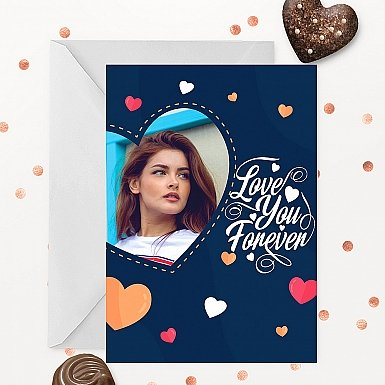Love you Forever Personalised Photo Card