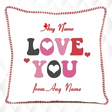 Love You Hearts-Personalised Cushion