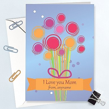 Love You Mom-Personalised Card