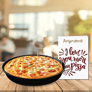 Love You more than pizza Gift Combo