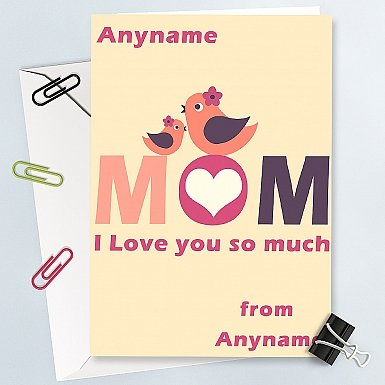 Love You So Much Mom-Personalised Card