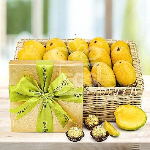 Mango Basket with Chocolates