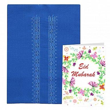 Unstitched Men Kurta with Eid Card