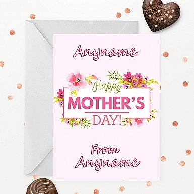 Mother's Day Pink Personalised Card