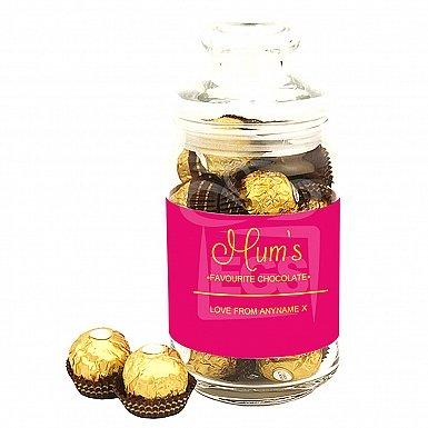 Mum's Favourite Chocolate-Ferrero Rocher Jar