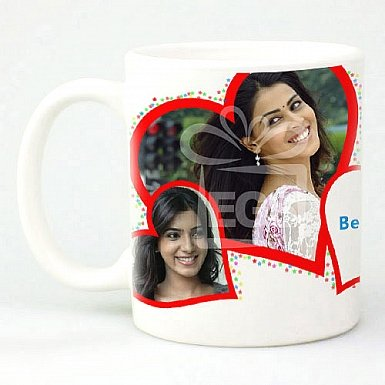 Photo Red Hearts - Personalised Mugs