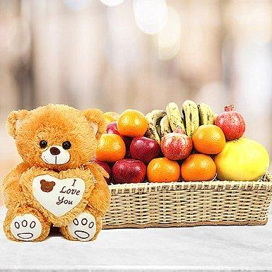 Romantic Fruit Basket