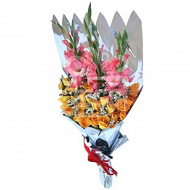 Rose and Gladiolas Bouquet