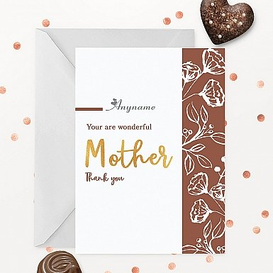 Thank You Mother Personalised Card