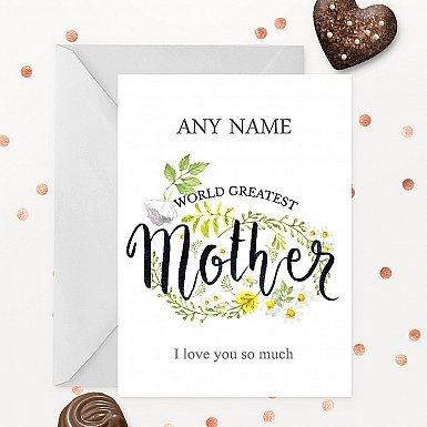 World Greatest Mother Personalised Card