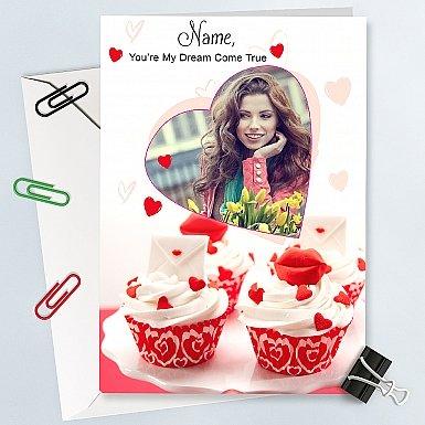 Cupcake Photo - Personalised Card